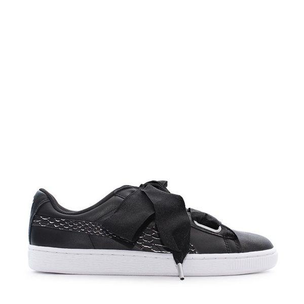 Puma Puma Basket Heart Oceanaire Black-White